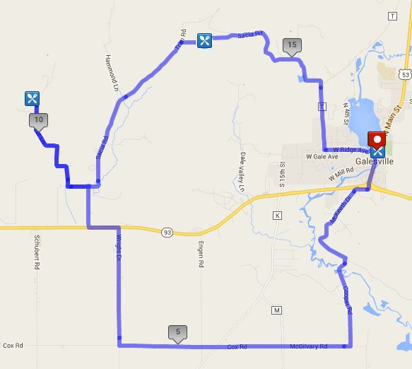 18 mile tour route