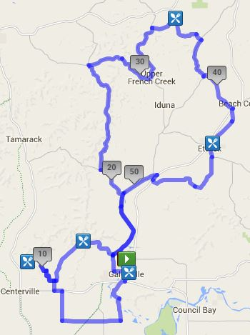 55 mile tour route