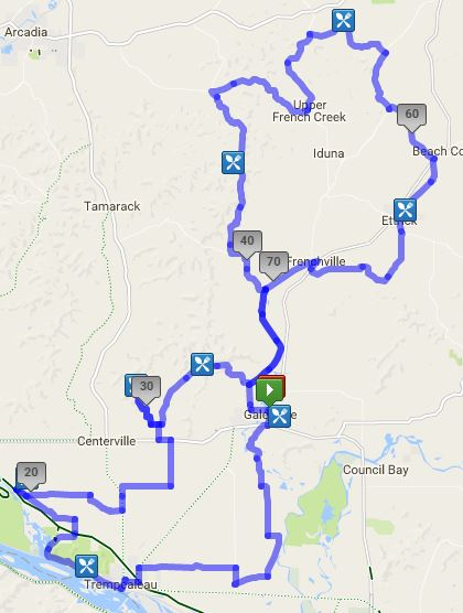 75 mile tour route